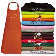 tablier de cuisine personnalisé photo tablier brodé à prénom un cadeau express original et personnalisé