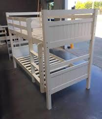 King Bunk Bed Bunk Bed King Single Solid White Solid Bunk New Goingbunks Biz