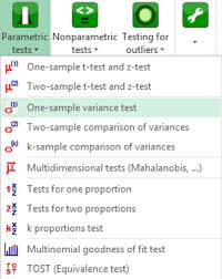 tutorial xlstat one sle variance test in excel tutorial xlstat