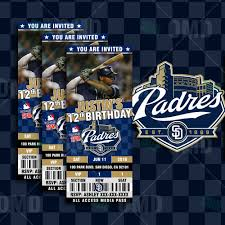 sports invites 2 5 6 u2033 san diego padres baseball sports party