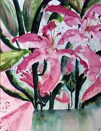 pink lillies pink lilies by jo slater
