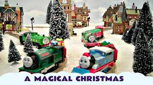 thomas and friends magical christmas holiday train set kids toy