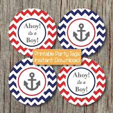 nautical baby shower decorations anchor ahoy its a boy cupcake