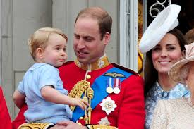 kate middleton and the royal family attend the trooping of colour