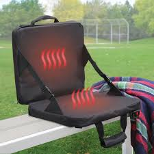 Stadium Chairs Target The Rechargeable Heated Massaging Stadium Seat Hammacher Schlemmer