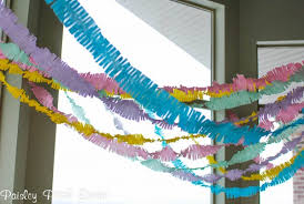 Streamer Chandelier How To Make Fringed Crepe Paper Streamers Tauni Co