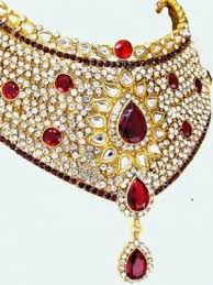 stone set necklace images Pendants maroon gold bridal stone set online shopping jpg