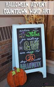 Printable Halloween Countdown Calendar Tips For Word Art On Chalkboards Her Tool Belt