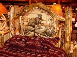 Rustic Log Bedroom Furniture Bedroom 150 Best Rustic Carved Beds Images On Pinterest Bedrooms