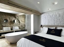 chambre avec salle de bain italienne dans une chambre decoration modele salle de bain