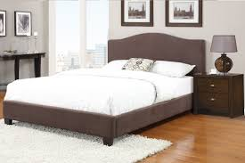 Bedroom Furniture New Jersey Queen Bed With Microfiber Bed Frame By Poundex F9251
