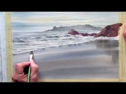 painting wet sand in watercolor youtube