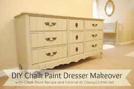 can i use chalk paint to paint my kitchen cabinets chalk paint recipe and chalk paint dresser makeover