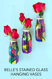 Stained Glass Vase Belle U0027s Hanging Vases Disney Movies