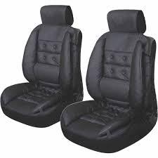 mousse de siege auto de 2 couvre sièges auto noirs avec renfort de mousse confort