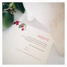 Wedding Invitation Information Card Bespoke By Katha