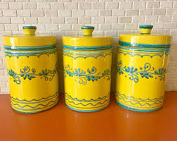 ceramic canister set etsy