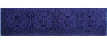 noori rug one of a kind overdyed naima hand knotted purple area