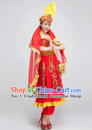 Chinese Costume Halloween Chinese Xinjiang Dance Costumes Girls Dancewear Dance Costume
