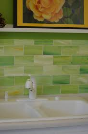 Green Glass Backsplashes For Kitchens Green Glass Backsplash Tile Kitchen Pinterest Glass