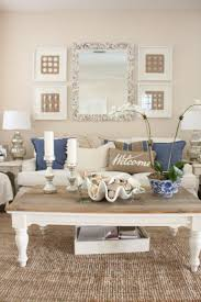 Beach Living Room Ideas by 2 Beach Cottage Living Room Ideas Diy Oyster Shell Mirror