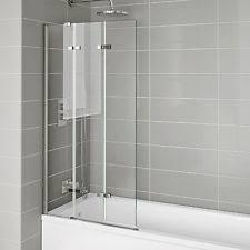 Concertina Shower Curtain Folding Bath Screens Shower U0026 Bath Screens Ebay