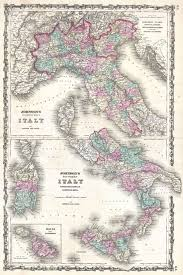 Map Of Italy And Sicily by File 1862 Johnson Map Of Italy Naples And Sicily Geographicus
