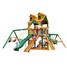 gorilla platform home depot black friday gorilla playsets treasure trove treehouse swing set with timber