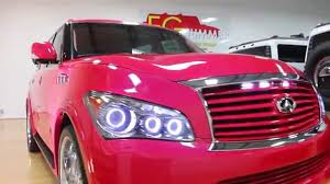infiniti qx56 hood sold 2011 infinity qx56 show truck for sale pink or watermelon