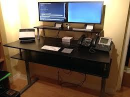 Raised Desk Shelf Desk Elevating Desk Platform Adjustable Height Desk Platform