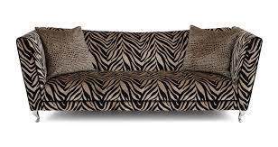 Gold Fabric Sofa Madagascar Tiger Pattern 4 Seater Sofa Dfs