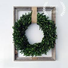 indoor wreaths home decorating home decor preserved boxwood wreath wood by birchandbarkwreaths