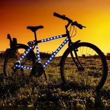 Blue Led Light Strip by Amazon Com Blue Led Strip Tape Lights For Bike Frame Sports