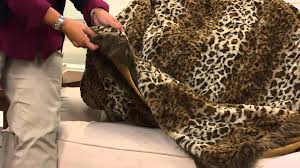 Leopard Print Faux Fur Throw Dennis Basso Platinum Oversized Faux Fur Throw With Trim With Jill