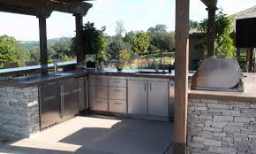Outdoor Kitchen Cabinets Metal Outdoor Kitchen Cabinets Built In Stainless Steel Bbq Grill