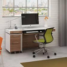 Contemporary Desk by Modern Desks Bdi Format Modern Walnut Desk Eurway