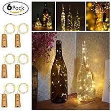 How To Decorate A Wine Bottle Amazon Com Wine Bottle Lights With Cork Led Cork Lights For