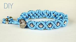 make bracelet macrame images How to make easy wave bracelet with satin cords and beads jpg