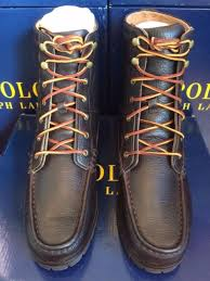 s boots with laces polo ralph pebbled brown leather laces rouland ankle hiking
