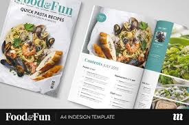 food u0026fun magazine indesign template magazine templates
