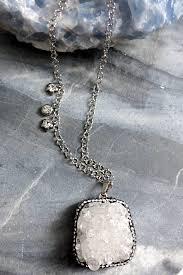 white quartz necklace images Statement necklace white quartz kakoubijoux jpg