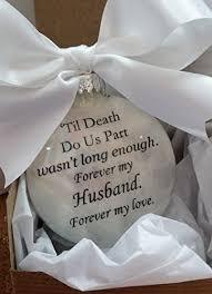 husband in memory memorial ornament til