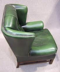 Leather Chesterfield Armchair Leather Chesterfield Winged Armchair