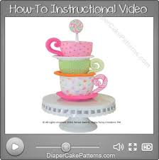 diaper cake patterns u0026 videos