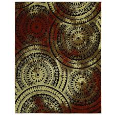 area rugs home decorators home decorators collection spiral medallion brown rust 7 ft 10 in