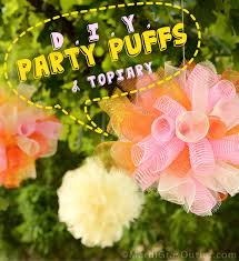 mardi gras outlet deco mesh party ideas by mardi gras outlet diy party puffs topiary with
