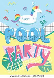 invitation card cartoon design invitation card template cute cartoon pool stock vector hd royalty