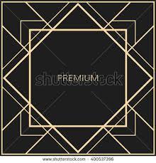 Art Deco Design Elements Vector Geometric Frame Art Deco Style Stock Vector 385488883