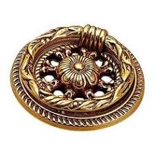 Brass Ring Pulls Cabinet Hardware by 1 30 In Antique Brass Distressed Brass Ring Pull Home Antiques
