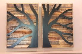 wall arts wooden tree wall wood metal tree wall